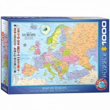Eurographics: Map of Europe 1000 stukjes