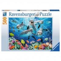 Ravensburger: Dolfijnen in het koraalrif 500 stukjes