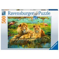 Ravensburger: Leeuwen in de savanne 500 stukjes