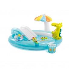 Opblaasbaar badspeelcentrum krokodil