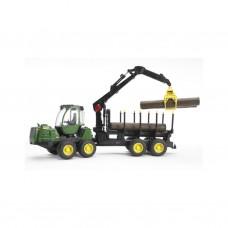 Bruder: 02133 Tractor John Deere met Boomstammen