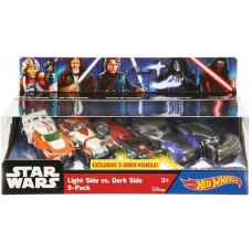 Hotwheels: Starwars 5-Pack: Light Side VS Dark Side