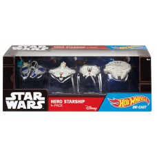 Hotwheels: Star Wars: Hero Starship 4-Pack