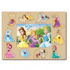 Disney Princess: Houten Knopjes Puzzel