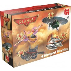 Jumbo: Planes 2 shaped puzzels 4 in 1