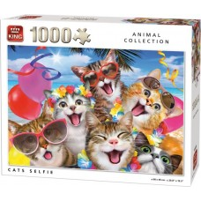 King: Animal Collection: Cats Selfie 1000 stukjes