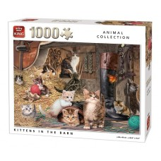 King: Animal Collection: Kittens in the Barn 1000 stukjes