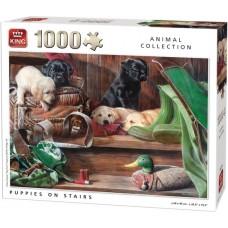 King: Animal Collection: Puppies on Stairs 1000 stukjes