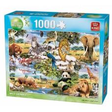 King: Animal World: Wild Animals 1000 stukjes