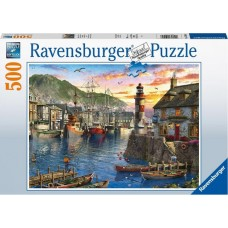 Ravensburger: 's Ochtends in de haven 500 Stukjes