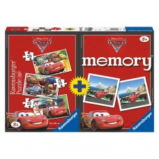 Cars Memory + Puzzel 2 in 1